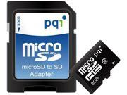 PQI 8GB microSDHC Flash Card with SD Adaptor Model 6ARH-008GXX99X