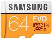 Samsung 64GB EVO UHS-I/U3 Memory Card with SD Adapter, Speed Up to 100MB/s (MB-MP64GA/AM)