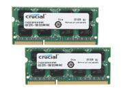 Crucial 2-Pack 4GB 1.1 GHz DDR3 SoDIMM Laptop Memory Kit CT2K4G3S1067M