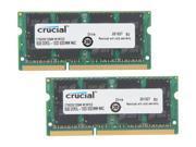 Crucial 2-Pack 8GB 1.3 GHz DDR3L SoDIMM Laptop Memory Kit CT2K8G3S1339M