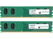 Crucial 2GB (2 x 1GB) 240-Pin DDR3 SDRAM DDR3 1600 (PC3 12800) Desktop Memory Model CT2KIT12864BA160B