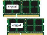 Crucial 16GB 2 x 8GB 204 Pin DDR3 SO DIMM DDR3L 1866 PC3L 14900 Memory for Mac Model CT2K8G3S186DM