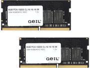 GeIL 16GB (2 x 8G) 260-Pin DDR4 SO-DIMM DDR4 2400 (PC4 19200) Laptop Memory Model GS416GB2400C16DC