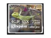 Kingston Elite Pro 4GB Compact Flash (CF) Flash Card Model CF/4GB-S
