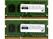 Wintec Value 8GB (2 x 4GB) 204-Pin DDR3 SO-DIMM DDR3 1600 (PC3 12800) Laptop Memory Model 3VH160011S8-8GK