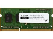 Wintec Value 4GB 204-Pin DDR3 SO-DIMM DDR3 1600 (PC3 12800) Laptop Memory Model 3VH160011S8-4GR