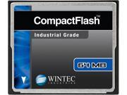Wintec 64MB Compact Flash (CF) Card Industrial Grade SLC Nand Black Model 33100064MCF