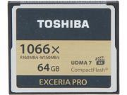 Toshiba EXCERIA PRO 64GB Compact Flash (CF) Flash Card Model THNCF064GSGI