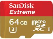 SanDisk 64GB Extreme microSDXC UHS-I/U3 Class 10 Memory Card with Adapter, Speed Up to 90MB/s (SDSQXNE-064G-GN6MA)