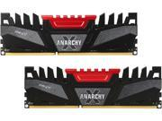 PNY Anarchy X 8GB (2 x 4GB) 240-Pin DDR3 SDRAM DDR3 2400 (PC3 19200) Desktop Memory Model MD8GK2D3240011AXR-Z