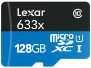 Lexar 633x 128 GB High-Performance microSDXC w/USB 3.0 Reader Flash Memory Card