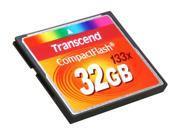 Transcend 32GB Compact Flash (CF) Flash Card Model TS32GCF133