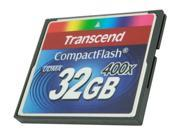 Transcend 32GB Compact Flash (CF) 400X Flash Card Model TS32GCF400