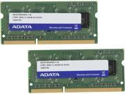 ADATA 8GB 2 x 4GB 204 Pin DDR3 SO DIMM DDR3 1600 PC3 12800 Laptop Memory Model AD3S1600W4G11 2