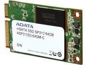 ADATA Premier Pro SP310 mSATA 64GB SATA 6Gb/s MLC Internal Solid State Drive (SSD) ASP310S3-64GM-C