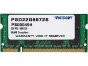 Patriot 2GB 200-Pin DDR2 SO-DIMM DDR2 667 (PC2 5300) Laptop Memory Model PSD22G6672S