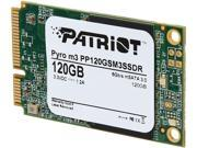 Patriot Pyro M3 mSATA 120GB SATA III Internal Solid State Drive (SSD) PP120GSM3SSDR