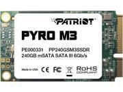 Patriot Pyro M3 PP240GSM3SSDR mSATA 240GB SATA III Internal Solid State Drive (SSD)