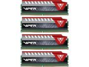 Patriot Viper Elite 64GB (4 x 16GB) 288-Pin DDR4 SDRAM DDR4 2800 (PC4 22400) Desktop Memory Model PVE464G280C6QKR