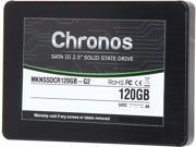 "Mushkin Enhanced Chronos 2.5"" 120GB SATA III MLC Internal Solid State Drive (SSD) MKNSSDCR120GB-G2"