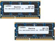 Mushkin Enhanced Blackline 16GB (2 x 8G) 204-Pin DDR3 SO-DIMM DDR3L 1600 (PC3L 12800) Laptop Memory Model 997178