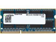 Mushkin Enhanced Essentials 16GB 204-Pin DDR3 SO-DIMM DDR3L 1600 (PC3L 12800) Laptop Memory Model MES3S160BM16G28