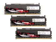 G.SKILL Sniper Gaming Series 12GB 3 x 4GB 240 Pin DDR3 SDRAM DDR3 1600 PC3 12800 Desktop Memory Model F3 12800CL9T 12GBSR