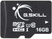 G.Skill 16GB microSDHC UHS I U1 Class 10 Memory Card with Adapter FF TSDG16GA C10