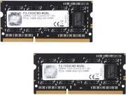 G.SKILL 8GB (2 x 4GB) 204-Pin DDR3 SO-DIMM DDR3L 1333 (PC3L 10666) Laptop Memory Model F3-1333C9D-8GSL