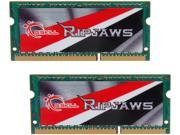 G.SKILL Ripjaws Series 8GB (2 x 4GB) 204-Pin DDR3 SO-DIMM DDR3 1866 (PC3 14900) Laptop Memory Model F3-1866C10D-8GRSL