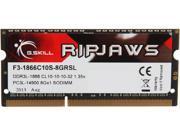 G.SKILL Ripjaws Series 8GB 204-Pin DDR3 SO-DIMM DDR3 1866 (PC3 14900) Laptop Memory Model F3-1866C10S-8GRSL