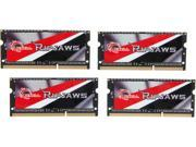 G.SKILL Ripjaws 32GB 4 x 8G 204 Pin DDR3 SO DIMM DDR3L 1866 PC3L 15000 Laptop Memory Model F3 1866C10Q 32GRSL