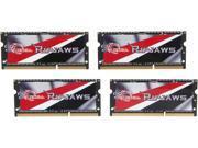 G.SKILL Ripjaws 32GB (4 x 8G) 204-Pin DDR3 SO-DIMM DDR3L 1600 Laptop Memory Model F3-1600C11Q-32GRL