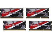 G.SKILL Ripjaws 32GB (4 x 8G) 204-Pin DDR3 SO-DIMM DDR3L 2133 Laptop Memory Model F3-2133C11Q-32GRSL