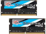 G.SKILL Ripjaws Series 8GB (2 x 4GB) 260-Pin DDR4 SO-DIMM DDR4 2400 (PC4 19200) Laptop Memory Model F4-2400C16D-8GRS