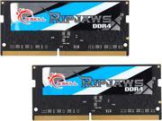G.SKILL Ripjaws Series 8GB 2 x 4GB 260 Pin DDR4 SO DIMM DDR4 2666 PC4 21300 Laptop Memory Model F4 2666C18D 8GRS