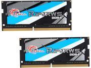 G.SKILL Ripjaws Series 16GB (2 x 8G) 260-Pin DDR4 SO-DIMM DDR4 2666 (PC4 21300) Laptop Memory Model F4-2666C18D-16GRS