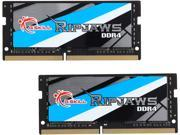 G.SKILL Ripjaws Series 32GB 2 x 16G 260 Pin DDR4 SO DIMM DDR4 2800 PC4 22400 Laptop Memory Model F4 2800C18D 32GRS
