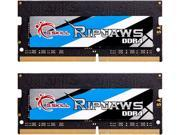 G.SKILL Ripjaws Series 16GB (2 x 8G) 260-Pin DDR4 SO-DIMM DDR4 3000 (PC4 24000) Laptop Memory Model F4-3000C16D-16GRS