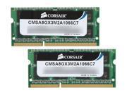 CORSAIR 8GB (2 x 4GB) 204-Pin DDR3 SO-DIMM DDR3 1066 (PC3 8500) Memory for Apple Model CMSA8GX3M2A1066C7