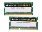 CORSAIR ValueSelect 8GB (2 x 4GB) 204-Pin DDR3 SO-DIMM DDR3 1600 (PC3 12800) Laptop Memory Model CMSO8GX3M2A1600C11
