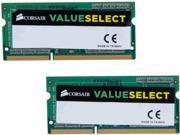 CORSAIR ValueSelect 8GB (2 x 4GB) 204-Pin DDR3 SO-DIMM DDR3L 1600 (PC3L 12800) Laptop Memory Model CMSO8GX3M2C1600C11