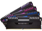 CORSAIR Vengeance RGB 64GB (4 x 16GB) 288-Pin DDR4 SDRAM DDR4 3000 (PC4 24000) Desktop Memory Model CMR64GX4M4C3000C16