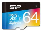 Silicon Power 64GB Superior Pro microSDXC UHS-I/U3 Class 10 Memory Card with Adapter, Speed Up to 90 MB/s (SP064GBSTXDU3V20SP)