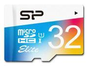 Silicon Power 32GB Elite microSDHC UHS-I/U1 Class 10 Memory Card with Adapter, Speed Up to 85MB/s (SP032GBSTHBU1V20NE)