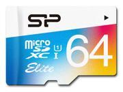 Silicon Power 64GB Elite microSDXC UHS-I/U1 Class 10 Memory Card with Adapter, Speed Up to 85MB/s (SP064GBSTXBU1V20NE)