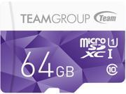 Team Group 64GB Color microSDXC UHS I U1 Class 10 Memory Card with Adapter Speed Up to 80MB s TCUSDX64GUHS41