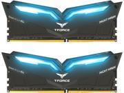 Team T Force Night Hawk 16GB 2 x 8GB 288 Pin DDR4 SDRAM DDR4 3000 PC4 24000 Memory Desktop Memory Model THBD416G3000HC16CDC01