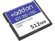 AddOn Network Upgrades 512MB Compact Flash CF Flash Card Model MEM RSP720 CF512M AO