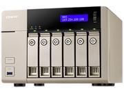 QNAP TVS-663-8G-US 6-bay-8GB DDR3L-1600 x 1 Affordable 10GbE-ready Golden Cloud Turbo vNAS